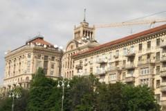 Stalinbauten am Cherschaschtschik