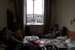 Hotelzimmer im Hotel Ukraina direkt am Cherschaschtschik
