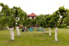 Allein auf dem Campingplatz in Wigry