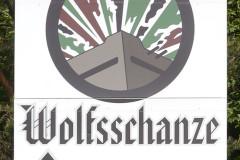 Hinweisschild Wolfsschanze