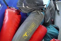 Gepäckhaufen kurz vor dem Aussteigen