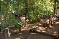 die sanitären Anlagen auf dem Biwakplatz