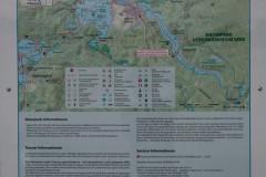 Informative Tafeln für Wasserwanderer überall.