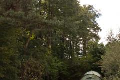 Terassierter Campingplatz